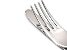 близкий нож вилки вверх Стоковые Фото