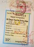 близкий пасспорт страницы вверх Стоковые Изображения RF