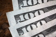 Близкий поднимающий вверх американец денег макроса стоковое изображение rf