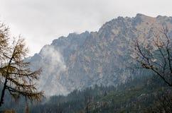 Близкий поднимающий вверх взгляд высокого Tatras от Словакии, Европы стоковые фото