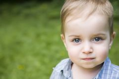 близкий портрет малыша вверх стоковая фотография