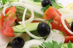 близкий салат вверх Стоковые Изображения RF