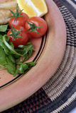 близкий салат плиты агашка урожая Стоковое фото RF
