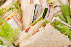 близкий сандвич диска вверх Стоковое Изображение