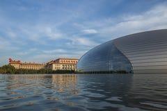 Близкий снимок грандиозного китайского национального театра Стоковое Фото