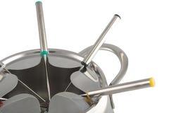близкий создатель fondue вверх Стоковые Фото