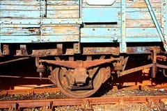близкий старый поезд вверх Стоковые Изображения