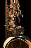 близкий тенор саксофона вверх Стоковые Изображения RF