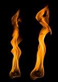 близкий язык пламени вверх Стоковые Фотографии RF