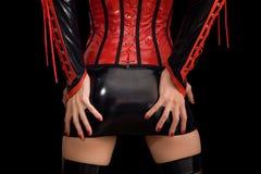 близкий miniskirt девушки фетиша вверх Стоковое Изображение