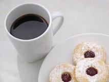 близкий shortbread кофе вверх Стоковое фото RF