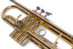 близкий trumpet вверх стоковое изображение