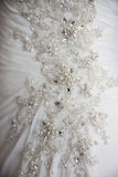 близкое венчание платья детали Стоковые Фотографии RF