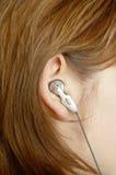 близкое изображение девушки уха вверх Стоковые Изображения RF