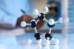 близкое модельное молекулярное поднимающее вверх стоковое фото rf