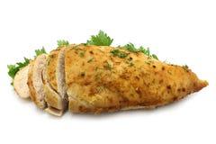 близкое мясо тарелки вверх Стоковые Фотографии RF