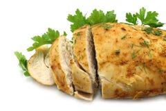 близкое мясо тарелки вверх Стоковое Изображение