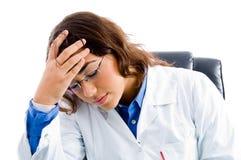 близкое напряжение доктора вверх стоковое изображение rf