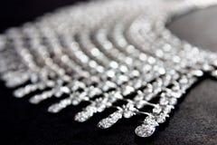 близкое ожерелье диаманта вверх Стоковая Фотография RF