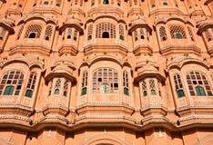 близкое поднимающее вверх Индии jaipur hawa mahal Стоковые Изображения RF