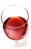 близкое стеклянное красное вино взгляда сверху стоковая фотография rf
