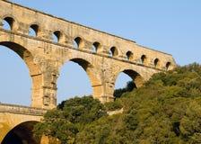 близкое pont перспективы du gard вверх стоковое фото rf