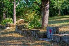 Близко-естественный архитектурноакустически конструированный сад стоковое фото