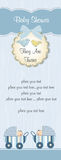 близнецы ливня карточки младенца Стоковое Изображение