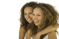 близнецы hug Стоковое фото RF
