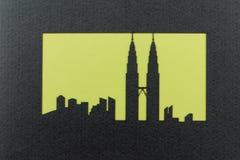 близнец башни силуэта petronas Стоковая Фотография