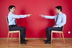 близнец бой бизнесмена Стоковое фото RF