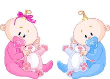 близнец младенцев иллюстрация штока