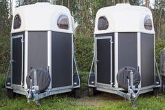 близнец трейлеров лошади Стоковые Фото