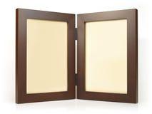 близнец фото рамки деревянный Стоковые Фотографии RF