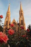 близнец шпиля собора Стоковые Фото