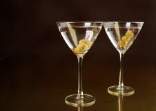 близнец martinis Стоковое фото RF