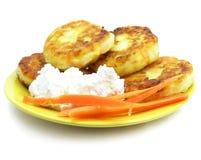 блинчики десерта сладостные Стоковые Изображения RF