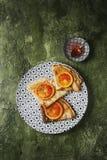 Блинчики с кровопролитными апельсинами Стоковое Изображение
