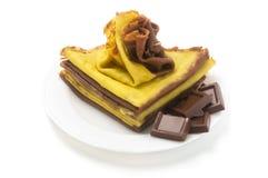 блинчики шоколада Стоковая Фотография RF