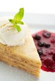 блинчик десерта стоковое изображение