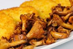 Блинчик картошек с грибами стоковые изображения rf