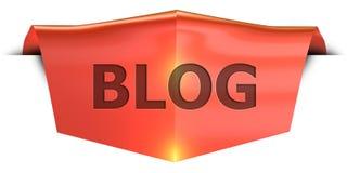 Блог знамени иллюстрация штока