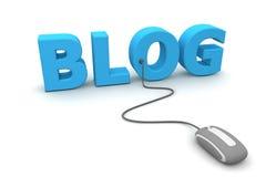 блог просматривает серую мышь Стоковые Фотографии RF