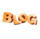 блог 3d иллюстрация вектора