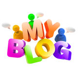 блог 3d иллюстрация штока