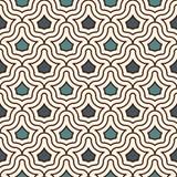 Блокируя диаграммы предпосылка тесселяции Повторенные геометрические формы Этнический орнамент мозаики предпосылки востоковедные иллюстрация штока