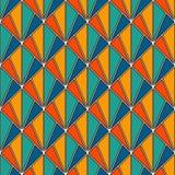 Блокируя тесселяция треугольников Современная печать с повторенными scallops Безшовная картина с масштабами рыб Стоковое Изображение RF
