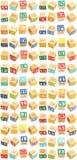 блоки алфавита через z стоковые изображения