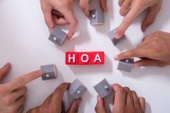 Блоки ассоциации домовладельца стоковое изображение