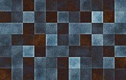 Блоки градиента геометрические квадратные Голубая текстура клеток яркого блеска E стоковое изображение rf